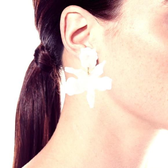 Lele Sadoughi Jewelry - Lele Sadoughi Pearl Small Paper Lily Earrings